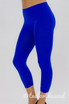 Royal Blue Capri Leggings (One Size - Capri Leggings, Women's Leggings, Royal Blue Leggings, Staff Uniforms, Fashion 101, Fitness Fashion, Slacks, Lady, Tees