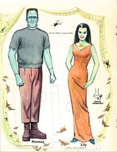 The Teacups and Terror Tribulation (vintagegal:   The Munsters Paper Dolls, 1966)