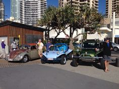 Buggies at surfers