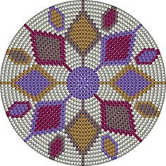 This Pin was discovered by Pam Mandala Au Crochet, Tapestry Crochet Patterns, Crochet Stitches Patterns, Crochet Chart, Crochet Motif, Cross Stitch Patterns, Knitting Patterns, Mochila Crochet, Tapestry Bag