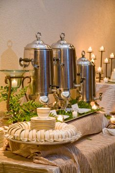 Coffee and tea for guests to enjoy at their leisure.  *image by ERB Photography
