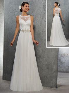 robe de mariée fluide en plissé soleil