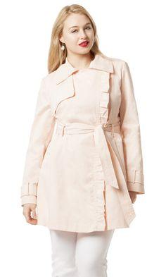 Plus Size Trenchcoat in Blush