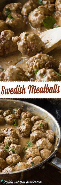 Swedish Meatballs Recipe from http://dishesanddustbunnies.com