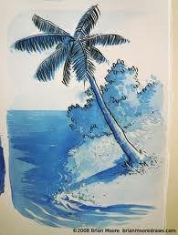 illustration like ink design of palm tree
