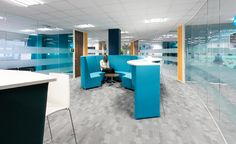 Civica offices designed by Interaction. Activity based working. Collaborative pods. Meeting area.
