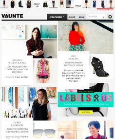 Vaunte Editor Of Vogue, Fashion Websites, Co Founder, Creative Director, Bff, Hermes, Lingerie, Entertaining, Shopping