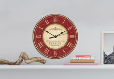 This 12 inch round clock makes a perfect housewarming gift. Personalize with any name, or add your favorite poem or scripture.