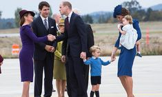Kate doted on Prince George and Princess Charlotte, who she held in her arms, on arrival at Victoria Airport on Sept. 24 following a long flight. Prince William enthusiastically greeted the Prime Minister and his wife, Sophie.<br><br>Photo: © Chris Jackson/Getty Images