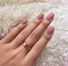 Matte pink nails More