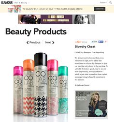 Coverage on Glamour I COLAB™ dry shampoo I SHEER INVISIBLE + EXTREME VOLUME I Available at Superdrug, Feel Unique & Beauty Mart (UK) Penneys (Ireland) London Drugs, Lawtons Drugs & Pharmasave (Canada) Jean Coutu, select Uniprix, Brunet & Familiprix (Quebec) www.colab-hair.com #Hair #Beauty #ColabHairConvert