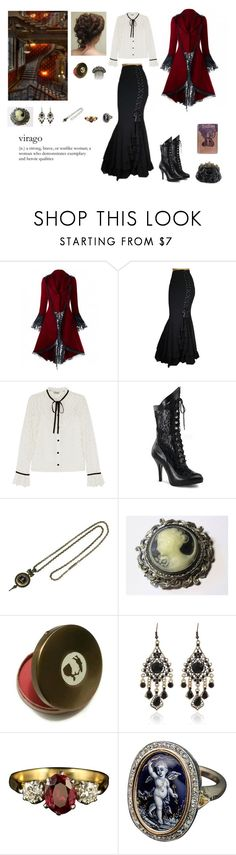 """Victorian outfit"" by circe-1emon ❤ liked on Polyvore featuring Temperley London, Funtasma, outfit, ootd, victorian and fashionset"