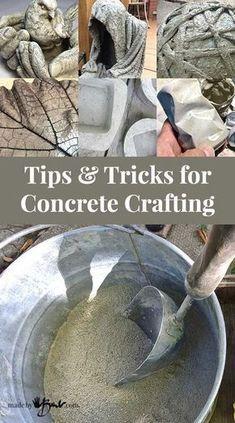 Concrete Patios, Diy Concrete Planters, Cement Art, Concrete Cement, Concrete Crafts, Concrete Garden, Wall Planters, Concrete Furniture, Polished Concrete