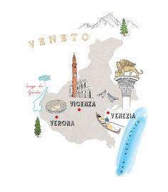 Veneto Map - Agnese Bicocchi