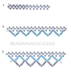 Free bead necklace patterns | Free pattern for beaded necklace Incanto | Beads Magic
