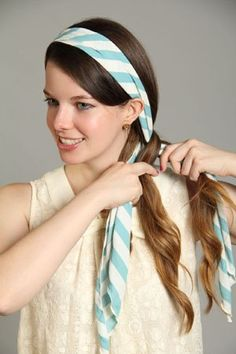 Three Ways to Wear a Hair Scarf, would be so cute on a little girl.