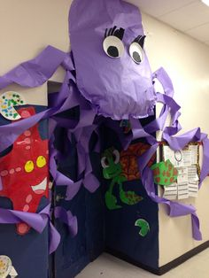 Under the sea Octopus door decor