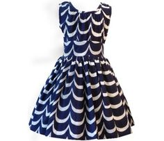 navy waves dress from kit + lily - modern nautical approach for flower girl?