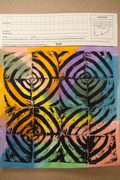 really like the 5th grade color field painting with styrofoam print over the top