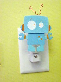 custom Robot night light Robot CUSTOM PAINTED. $11.99, via Etsy.