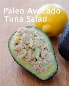 Paleo Avocado Tuna Salad  – a great paleo lunch or snack in 5 minutes with just…