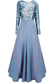Caroline blue sequins embellished gown available only at Pernia's Pop-Up Shop.