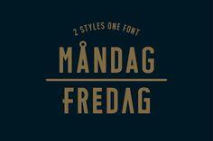 MÅNDAG - FREDAG Typeface by Cellar Door on Creative Market
