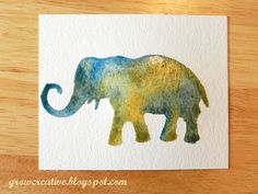 Grow Creative: Stenciled Watercolors Tutorial -- create your own professional looking watercolors.