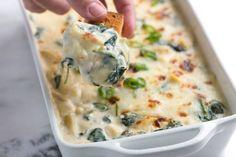 Unbelievably Creamy Spinach Artichoke Dip Recipe