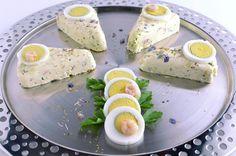 Sweet, bio and delicious: Bavarese Primavera con uova sode e gamberetti