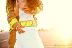 LAS VEGAS, NV – Proudly wearing her new last name, #firefighter #wedding | We Know How To Do It