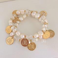 Pulseras de perlas con los 10 Mandamientos by Luz Marina Valero
