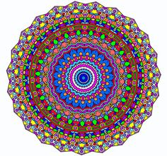 """Beautiful One of a Kind Handmade """"Coral Reef Kaleidoscope"""" Mandala Window Decal Cling 8.5""""x 8.5"""" Sun catcher Designed and Created By Kat"""