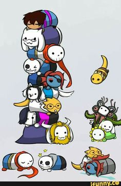 Cute chibi undertale :3