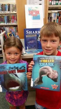 These young readers love Nokesville Library's Shark Week display! Who doesn't love sharks (especially when they can't bite you)?