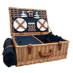 4 Person Blue Tweed Fitted Picnic Basket here - Product http://redhamper.co.uk/4-person-blue-tweed-fitted-picnic-basket/  #fittedpicnicbaskets