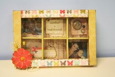 This Mother Memory Box would be a great way to show your mother just how much you care! Embellish with pictures and all the things that remind you of your own mother.  #craft #gift #mothers-day