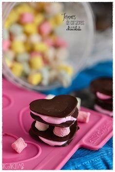 DECORECETAS: Torres de corazones con chocolate