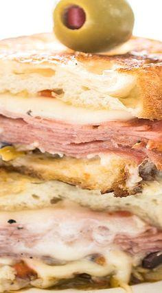 hot muffaletta sandwich hot muffaletta sandwich more burgers ...