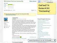 """Chef LeeZ student review #302 """"Outstanding"""" Clipped from www.tripadvisor.co.uk"""