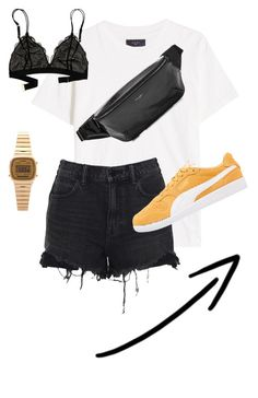 """""""<3"""" by silje-bjorkelid on Polyvore featuring AMIRI, Alexander Wang, Yves Saint Laurent, Madewell and Casio"""