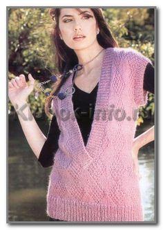 женские безрукавки вязание спицами