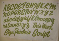 Sign Painter's Script