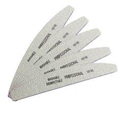 4 개/몫 전문 네일 파일 100/180 샌딩 파일 버퍼 블록 매니큐어 사포 폼 UV 젤 네일 아트 파일 도구 그레이 보트