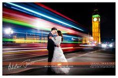 Rock the Frock. Electric photo shot. Modern Post wedding portraits. Westminster Bridge. Big Ben. London. Photography