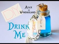 """""""This time she found a little bottle on it, ('which certainly was not here before,' said Alice,) and round the neck of the bottle was a paper label, with the words 'DRINK ME' beautifully printed on it"""" - Lewis Carroll    A miniature Alice in Wonderland """"Drink Me"""" bottle necklace inspired by the novel.    For Detailed Instructions: http://www.toniell..."""