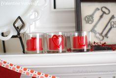 Valentine's Day votives + DecoArt GIVEAWAY! http://www.craftaholicsanonymous.net/2012/01/valentines-day-votives-decoart-giveaway.html
