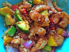 shrimp, quinoa, 21 day fix recipe, 21 day fix containers, Autumn Calabrese, clean eating, Shrimp Quinoa, Beachbody, healthy dinner, Shrimp stir fry
