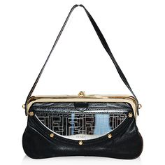 Fendi Small Black Mirrored Framed Bag http://www.consignofthetimes.com/product_details.asp?galleryid=6777