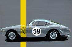 2445 GT acrylic on canvas. art prints also available on jytbespokeart.com #ferrariworld #ferrari70 #250swb #ferrari250#ferrari #automotiveart #popart #ecuriefrancorchamps